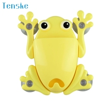 Hot Bathroom Accessories Set Cartoon Cute Frog Toothbrush Makeup Tools Wall Stick Paste Organizer Holder Hook