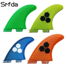 srfda High quality FCS II fins with fiberglass honey comb material for surfing size  M surfboard fins surf table fcs 2 fin