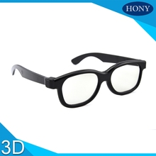 2pcs Free Shipping,Polarized 3D Screen 3d to 2d converter polarized 3D Plastic glasses, see the 3D movie in 2D, no double image(China)