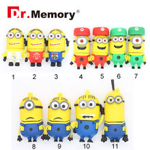 usb flash drive minion on sale USB flash 16G usb stick 8G pendrive 4G flash card usb 2.0 32G flash memory stick 11 styles