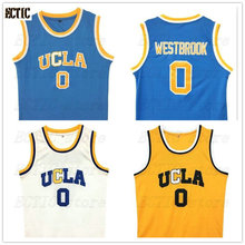 2018 UCLA #0 Russell Westbrook Bruins Home Crenshaw Blue Road Jersey MVP Throwback Basketball Jerseys Stitched Embroidery Logos(China)