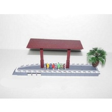 1 Set Bus Stop Sand Table Model,Bus Stop+8 Pcs People+1 Pcs Tree Random Color Hot Selling(China)