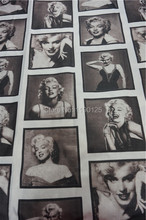 145x100cm Sexy Marilyn Monroe Linen Fabric Vintage Home Textile Unique Sewing Designer Fabrics for Sofa Table Fabric patchwork