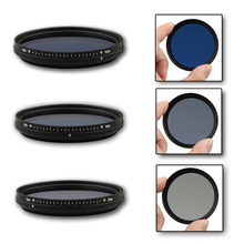 FOTGA 52mm Slim Adjustable Color Fader ND Blue Lens Filter Light Reducing(China)
