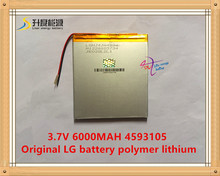 3.7V,6000mAH,4593105 Original L G battery polymer lithium ion battery;SmartQ T20,VI40,AMPE A86 Dual Core P85 Tablet PC(China)