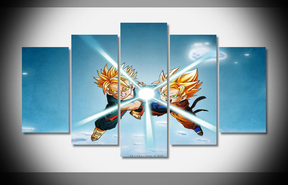 Dragon Ball Z Pictures Of Vegeta Vs Goku Poster Stretched Framed Decor Gallery Wrap Art