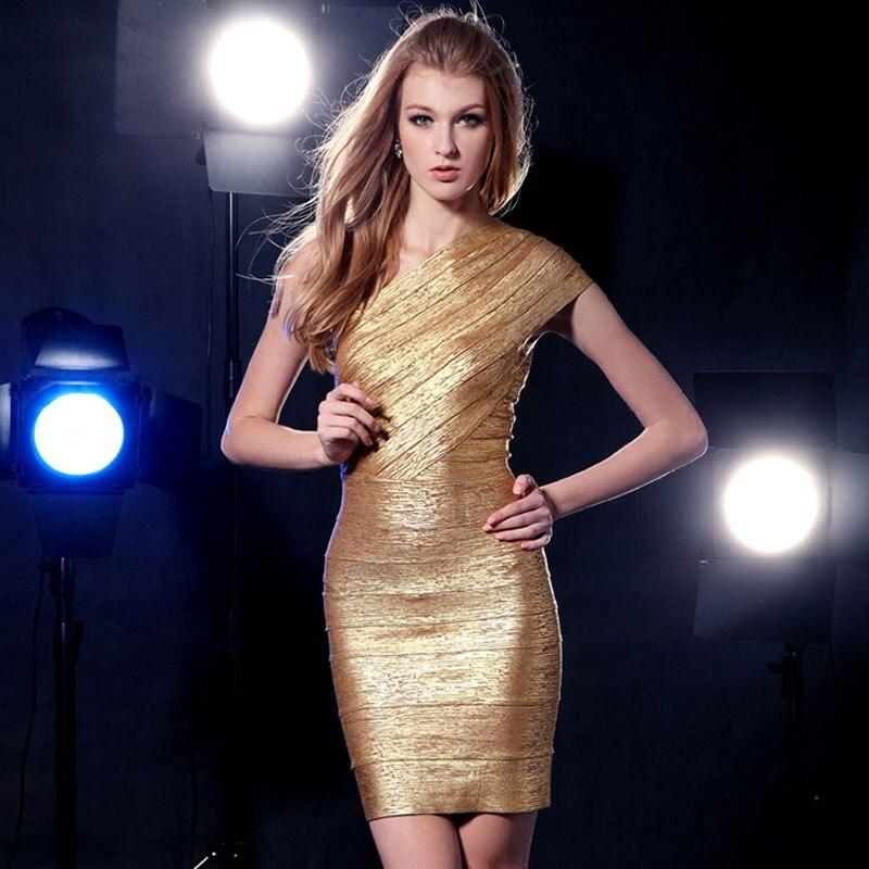 2018 New Fashion Nova Sexy One,Shoulder Gold Foil Printing