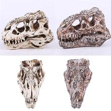 Retro Dinosaur Resin Skull Head Model Replica Skeleton Figurine Collection Home Bar Party Decor Best Hallowmas Gift