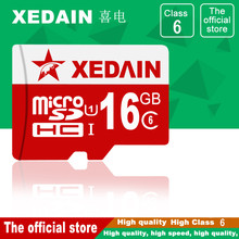 XEDAIN high quality real capacity 8GB 32GB 64GB Class10 brand Memory card 16GB Class6 mini sd micro sd card TF card microsd card