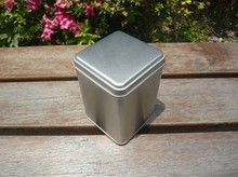 8.5x8.5x12cm high quality square plain tin box/tea box or jewelry& candy metal storage case