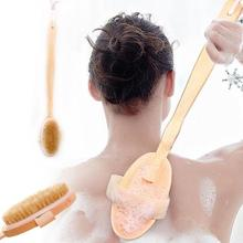 40cm Long Handle Wooden Bath Shower Body Back Brush Spa Scrubber Soap Cleaner Exfoliating Bathroom Tools