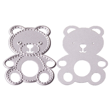 Nice DIY Little Bear Metal Cutting Dies Stencils Scrapbooking Album Embossing Paper Cards Decor 1PC(China)