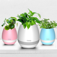 Touch Music Plant LED Bluetooth Speaker Portable Wireless Speakers for Phone ipod Xiomi Children Kids Birthday Gift Home Decor