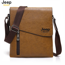 JEEP BULUO New Style Male Tote Bag High Quality Leather Messenger Bags For Men Fashion Crossbody Travel Bags Hobos 1502(China)