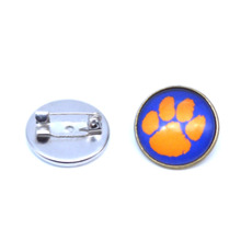 NCAA Charms Clemson Tigers Broochs For Women & Men Coat Pin Spider Brooch Fashion Jewelry 2017