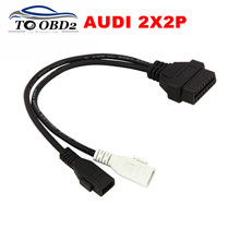 VAG Adapter For AUDI 2X2 OBD1 OBD2 Car Diagnostic Cable 2P+2P Fits Audi 2X2Pin to OBD2 16Pin Female Connector VAG COM VW Skoda