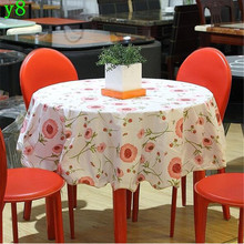152cmx152cm PVC The Round table cloth Rural style thickening round table cloth waterproof and oil tablecloth(China)