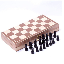 34*34cm Folding International Chess Game Set Board Game Wooden chess piece grid International checkers Sports Entertainment P15
