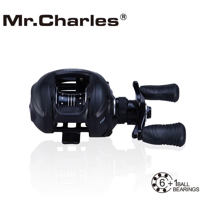 MrCharles 6BB+1RB 6.3:1ROCKET Line Capacity1510/1505 Left /Right Hand Bait Casting FishingReel Bearing Baitcasting Fihsing Reels<br>