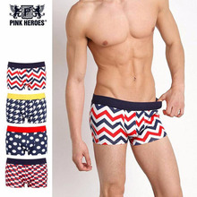 Hot Sale Fashion Sexy Mens Cartoon Print Underpants Knickers Sexy Men's Boxer Male Shorts Pants Underwear For Men Drop Shipping(China)