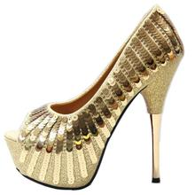 0d87f906997 Spring and summer new fish mouth single shoes super high heel sequins  elegant women s shoes sexy · 2 Colors Available