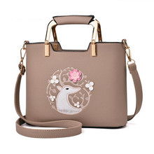 Newest Women's Top Handle Handbags Cartoon Deer Features Flower Charming Shoulder Bag lady Fashion Crossbody Evening Party Bags