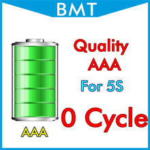 BMT original 10pcs/lot Quality AAA 0 zero cycle 1560mAh 3.7V Battery for iPhone 5S replacement BMTI5S0BTAAA(China)