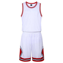 Youth plain basketball jerseys kids basketball sets boys sports training vests and shorts customized any logos free shipping(China)