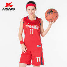 New Basketball Jerseys for Girls Shirt and Short Pants Team Training Basketball Clothing Breathable Custom Name Number 6 Colors