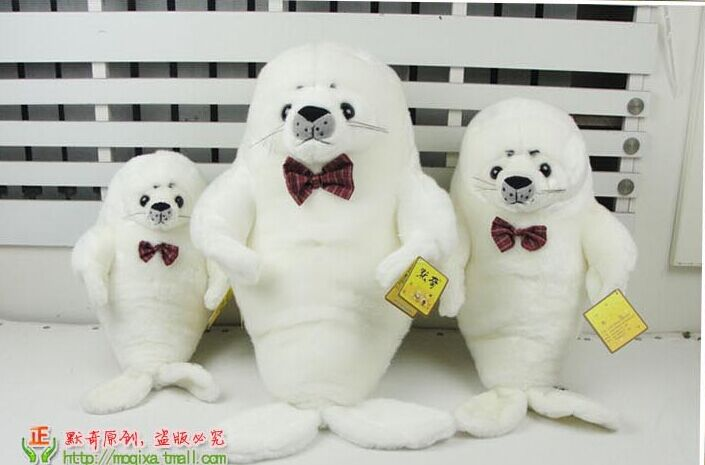 Marine animal cute seal plush toy bowtie seal sea dog doll birthday gift b4821<br><br>Aliexpress