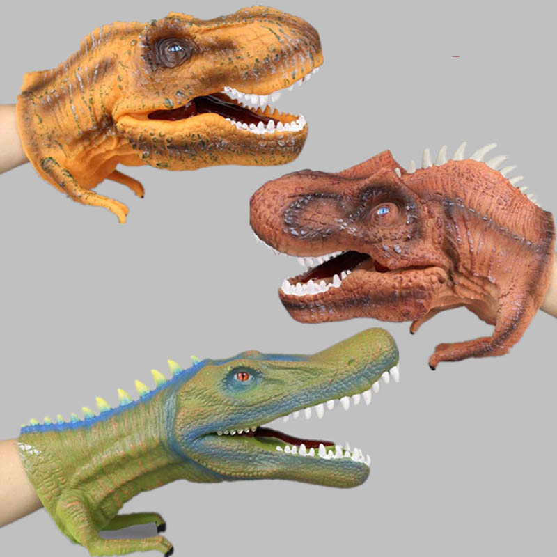 Gifts Tyrannosaurus Rex Puppet Dinosaur Model Hand Puppet Small Action Figure Collectible Model Toy Toys Plastic dinosaur 1pcs<br>