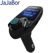 JaJaBor Original T11 Bluetooth Car Kit Handfree FM Transmitter MP3 Music Player Dual USB Car Charger Support TF Card U Disk Play(China)