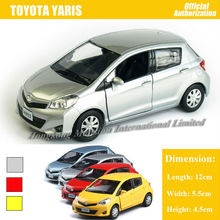 1:36 Scale Diecast Alloy Metal Car Model For TOYOTA Yaris Collection Model Pull Back Toys Car With Sound & Lights