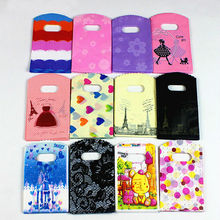 9*15 Wholesale Plastic Gift Jewelry Packing Bag Shopping Bags Pouches Gift Bags Jewelry Boxes And Packaging Mix Color(China)