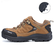 Best Selling Mens Large Size Hiking Shoes Leather Sport Shoes Trekking Mountain Boots Skid-Resistance Shoes Treking Sneakers Men