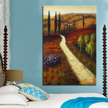Extra Large wall Painting of  Country Road Home Office Decoration paint Canvas Prints No Framed Canvas wall picture Giclee art