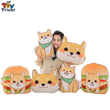 1pc Plush Japan Anime Corgi Pet Shiba Inu Dog Head Hamburger Toy Cushion Hands Warmer Pillow Birthday Gift Home Shop Decoration