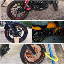 16 Strips Wheel Sticker Reflective Rim Stripe Tape Bike Motorcycle Car Fit for 16 17 18 inch Blue Orange Yellow Green White Red