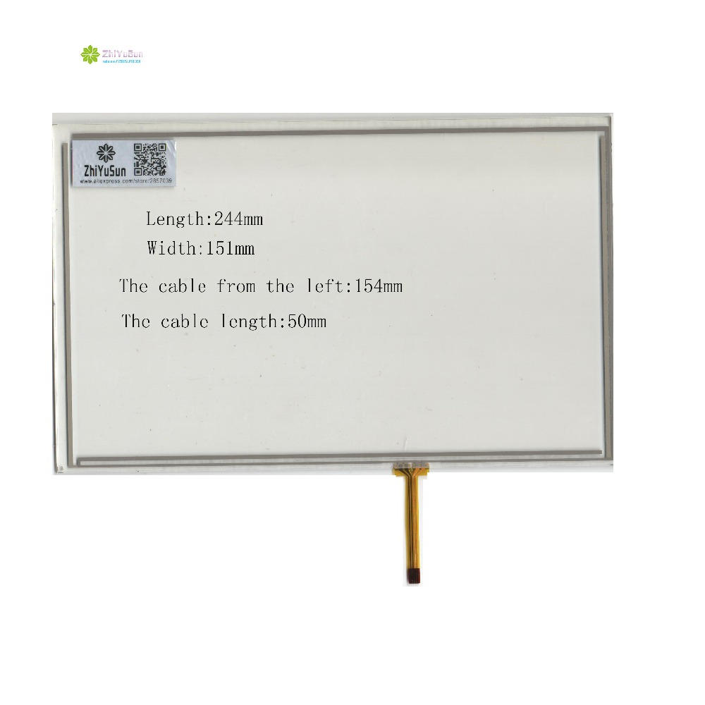 ZhiYuSun 244mm*151mm 10.4inch  4lines NEW touch screen panel TOUCH glass sensor 244*151 for DVD car  touch screen<br>