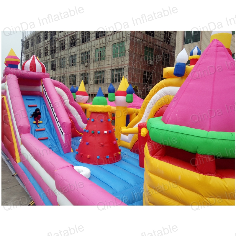 inflatable bouncer slide fun city castle(67)
