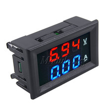 "Mini Digital Voltmeter Ammeter DC 100V 10A Panel Amp Volt Current Meter Tester 0.28"" Blue + Red Dual LED Display Free Shipping"