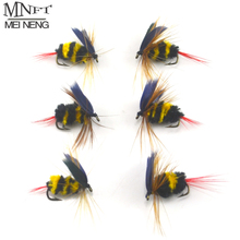 MNFT 6PCS/Lot Bumblebee Fly Fishing Flies Trout Bass Bumble Bee size 10# Factory Customize Flies Lure Bait bee fishing