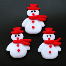 20PCS Merry Christmas Ornament plush snowman accessory for candy gift box bags christmas decoration supply(China)