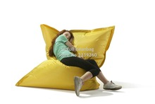 Cover only No Filler -yellow and green outdoor sleeping chair, indoor relaxing beanbag sofa(China)