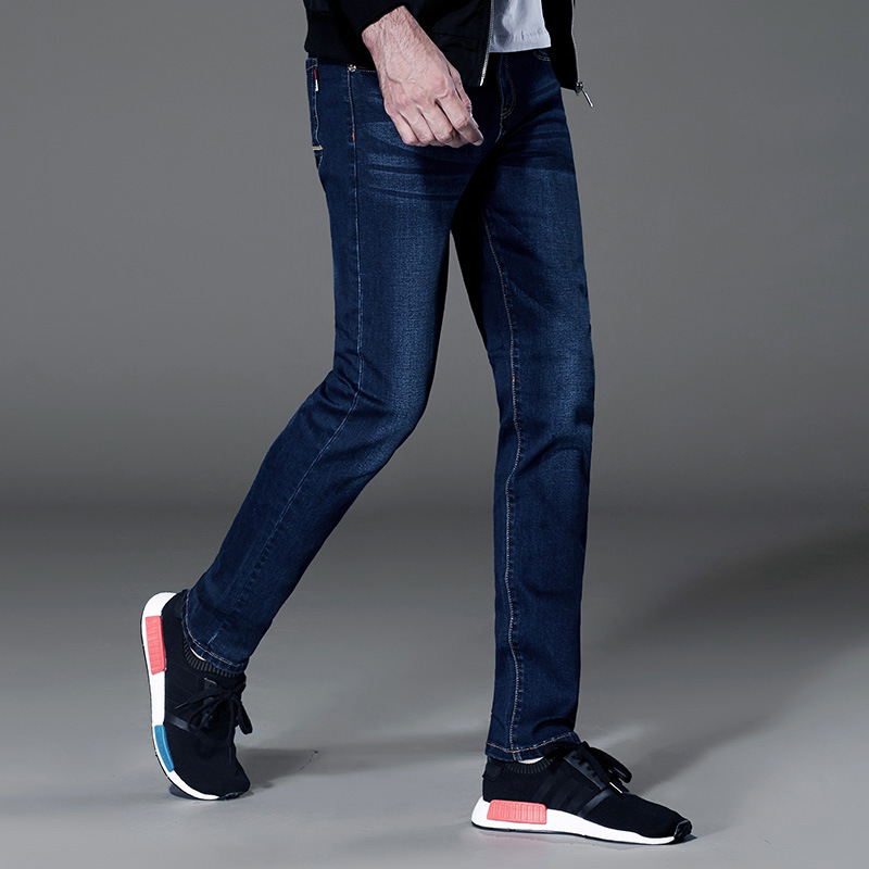 free ship plus size big strech spring autumn straight fashion washing dark blue new coming jeans boy jeans hommes  jeans menÎäåæäà è àêñåññóàðû<br><br>
