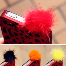 Rabbit Fur Ball Anti Dust Earphone Plug Cover Stopper Cap For iPhone Samsung