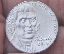 21.5mm Jefferson nickel 5 Cents Coin 2006-Present Nickel (United States Of America) Used Condition(China)