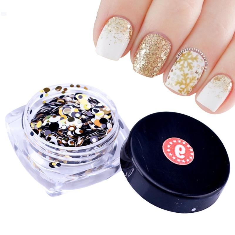 1 Bottle Plastic Nail Art Glitter Powder Color Nail Glitter Sequins Women Beauty Salon Manicure Tools 12 Designs Choice Z3(China (Mainland))