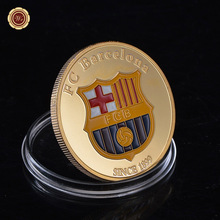 Rare Gold Plated Lionel Messi Number 10 Barcelona Coin Argentina Soccer Souvenir Gifts /w Plastic Case for Birthday Item(China)
