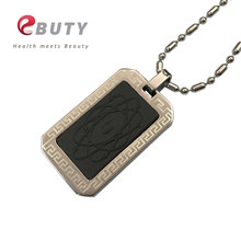 EBUTY Quantum Pendant Japan Technology Bio Scalar Energy Pendants Charms with Stainless Steel Chain & Crystal Gift Box(China)